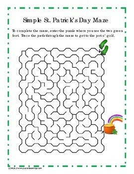Try Before You Buy - St. Patrick's Day Puzzle Sampler