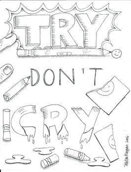 Try Don't Cry color sheet