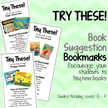 Try These! Book Suggestion Bookmarks {Try a New Book!}