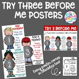 Try Three Before Me Posters (Ask Three) Melonheadz Clip Art