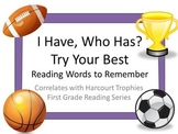 """Try Your Best """"I HAVE, WHO HAS?"""" Sight word practice for Harcourt Trophies"""