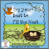Number & Number Word Recognition - Try Your Best to Fill the Nest