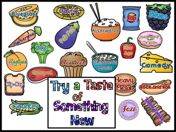 Try a Taste of Something New - Music Genres Bulletin Board