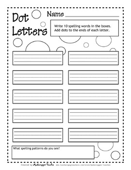 Try it Free! Printable Spelling Activities Independent Practice and ...