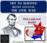 Try to Survive! History Adventure: Civil War