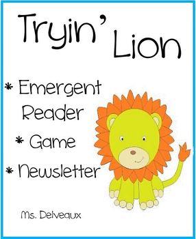 Tryin' Lion Emergent Reader