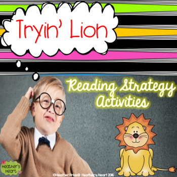 Tryin' Lion Reading and Decoding Strategy Activities for Guided Reading