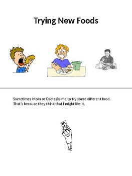 Trying New Foods social story