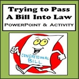 Trying to Pass a Bill into Law - How a Bill Becomes a Law PPT - Writing Activity