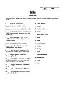"""""""Tsotsi"""" editable, AP Style Passage Test, Essay Prompts, Sample Essay"""