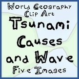 5-Pack of Tsunami Causes and Tsunami Wave Clip Art - Ready To Use!