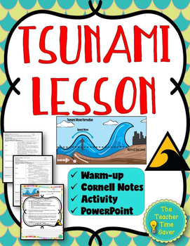 Tsunami Lesson (Notes, PowerPoint, and Brochure Activity)