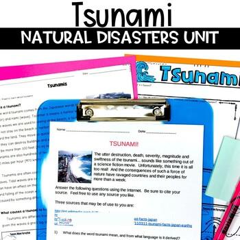 Tsunami Natural Disasters Unit