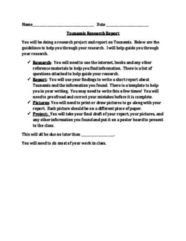 Tsunami Report & Project