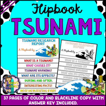 Tsunami Research Flipbook (Earth Science, Geography, Report Flip book)