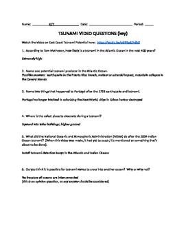 Tsunami Video Questions