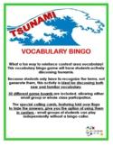 Tsunami Vocabulary Bingo