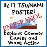 Tsunami Wave Poster - Causes and Wave Action - SPANISH - E