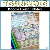 Tsunami Wild Weather Natural Disaster Sketch Note Activity