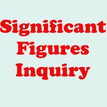 Inquiry for Significant Figures