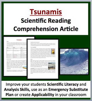 Tsunamis - A Science Reading Article - Grades 8 and above