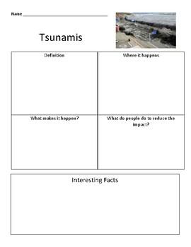 Tsunamis Grapic Organizer