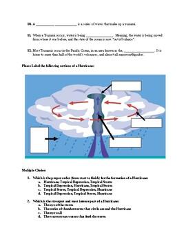 Tsunamis, Hurricanes, and Tornadoes Quiz