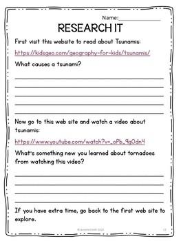 Tsunamis Science Centers