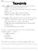 Tsunamis Text and Question Set - FSA/PARCC-Style ELA Assessment