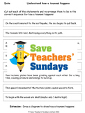 Tsunamis (how they happen) Lesson plan and Worksheet