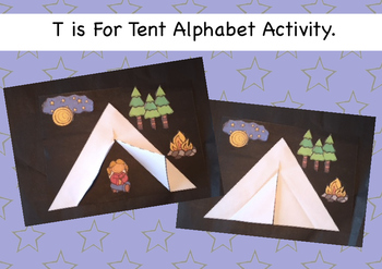 Tt is for Tent Alphabet Activity.