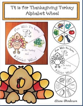 Tt is for Thanksgiving Turkey Alphabet Wheel