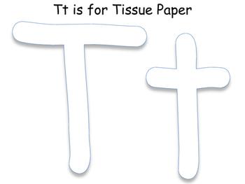Tt is for Tissue Paper