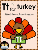 Tt is for Turkey Mini Preschool Lesson