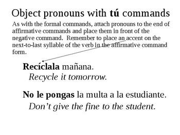 Tú Commands (Informal Commands)