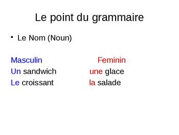 Tu as faim? (asking for food/drinks) Unité1 leçon 3A-B