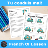 Tu conduis mal! - Comprehensible Input story for French learners