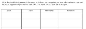 Tu horario de clases