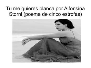 Tu me quieres blanca por Alfonsina Storni