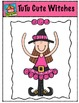 TuTu Cute Witches {P4 Clips Trioriginals Digital Clip Art}
