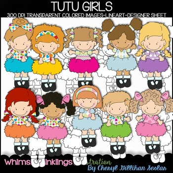 TuTu Girls Clipart Collection