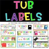 Tub/Classroom labels