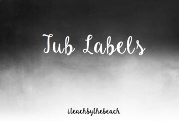 Tub Labels for Teacher Drawer EDITABLE