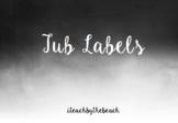 Tub Labels for Teacher Drawer EDITABLE