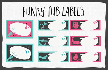 Tub Labels in 2 color themes by Think BIG