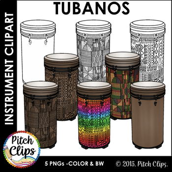 Tubano Drums Clipart (Clip art) - Commercial Use, SMART OK!