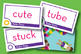 Tube Time Short Vowel u / CVCe u Phonics Game - Words Their Way Game