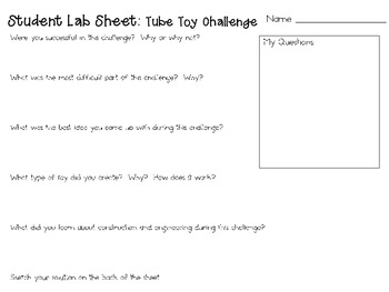 Tube Toy: Engineering Challenge Project ~ Great STEM Activity!
