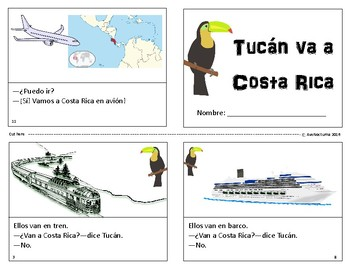 Spanish Transportation Mini Book - Tucán Va a Costa Rica