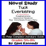 Tuck Everlasting Novel Study & Enrichment Project Menu; Plus Digital Option